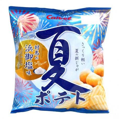 Calbee 日本卡樂B 夏ポテト対馬の浜御塩味薯片 65g
