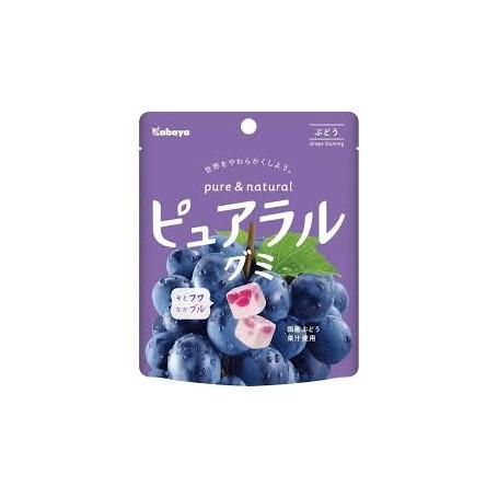 Kabaya  ピュアラルグミ ぶどう 提子味軟糖 58g