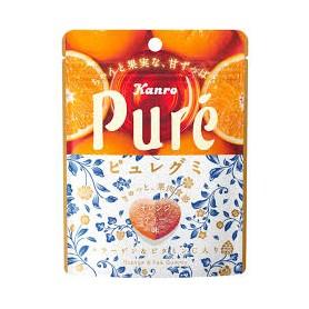 Kanro Pure Gummy - Orange & Tea Flavor 58g