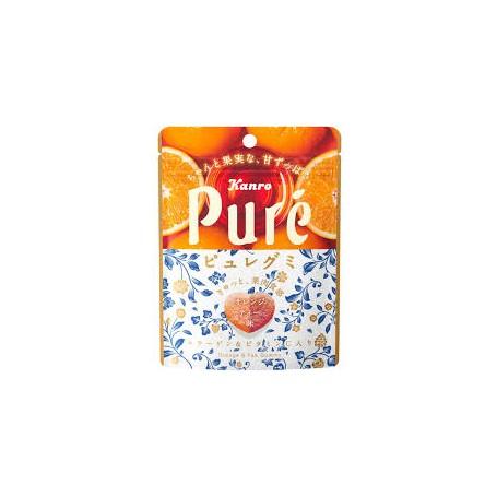 甘樂 Pure ピュレグミ オレンジティ橘橙味軟糖 56g
