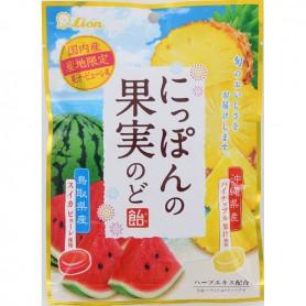 Lion 日本果實喉糖 (菠蘿&西瓜味) 72g
