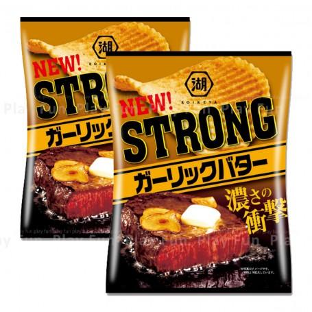Koikeya 湖池屋 Strong 蒜香牛油味薯片 56g