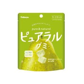 Kabaya ピュアラルグミラフランス啤梨軟糖 58g